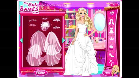barbie wedding dressup games free download java wedding barbie dress up games youtube