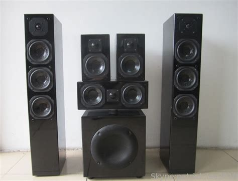black glossy panel 5 1 home theater speaker sound