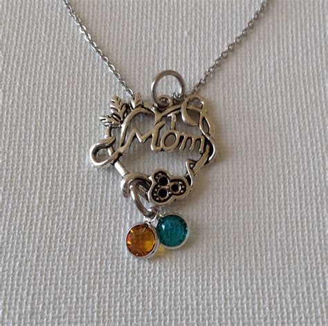 necklace with birthstones necklace mothers day