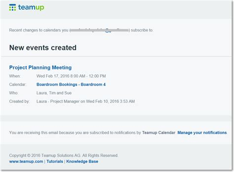 email notification templates how to use teamup notifications
