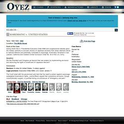 sykes v united states the oyez project at iit chicago japanese internment pearltrees