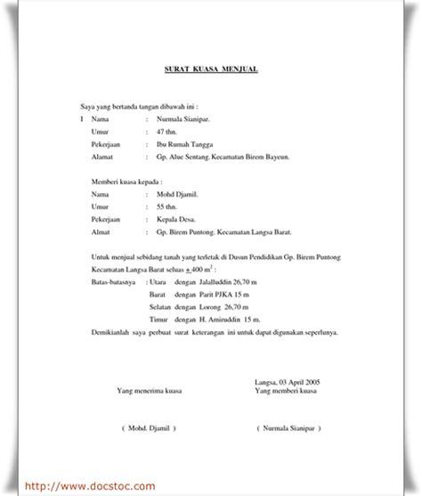 contoh surat kuasa khusus perceraian wisata dan info sumbar