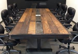 Wood Conference Table Industrial Vintage Conference Room Table Wood And Steel By Struxuresupplyco Via Etsy
