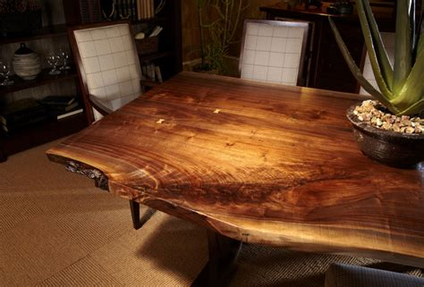 Live Edge Dining Room Table Live Edge Dining Tables Eclectic Dining Room Toronto By Almira Furniture