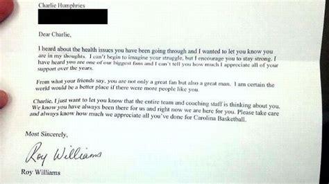 blog posts gogreenmemo north carolina tar heels coach roy williams sends letter