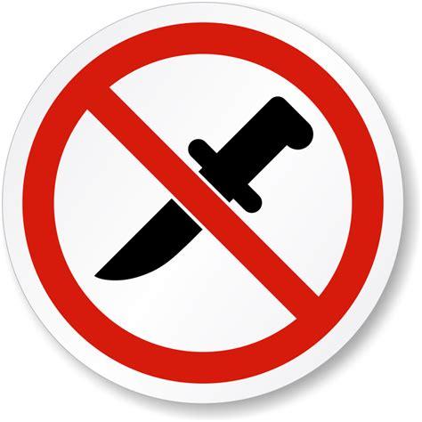 Laser Kitchen Knives no knife allowed symbol iso prohibition safety label