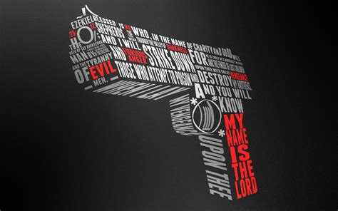 wallpaper cool word ezekiel 25 17 gun wallpaper