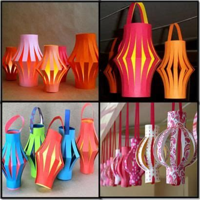 How To Make Diwali Paper Lanterns - how to make paper lanterns stepbystep arts
