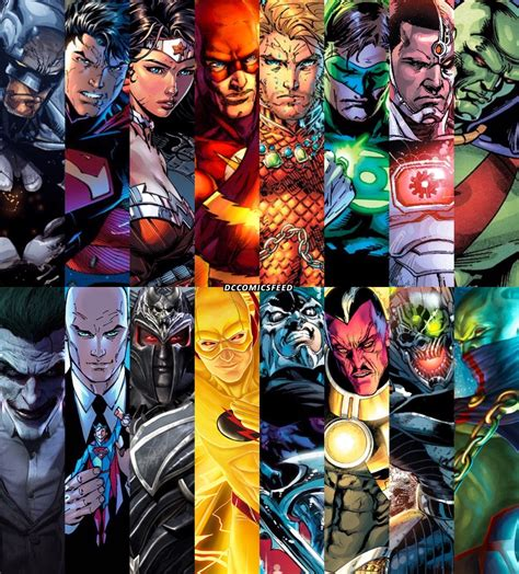 And Their Comics dc comics dc superheroes with their greatest arch enemies