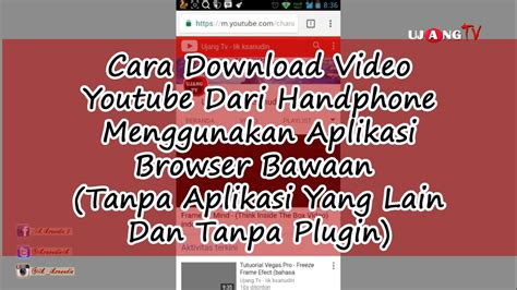 cara download mp3 dari youtube menggunakan hp cara paling mudah download video youtube dari handphone