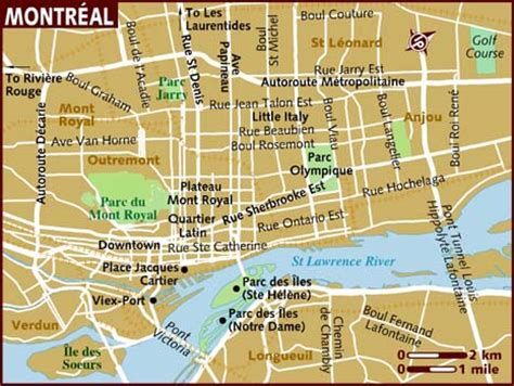 printable map montreal map of montreal