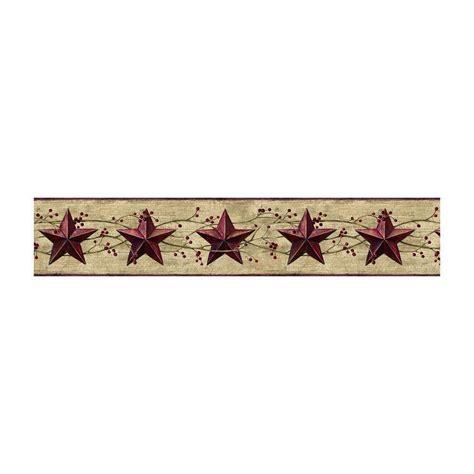 jl1094b berries country tin dark red stars wallpaper border york ebay