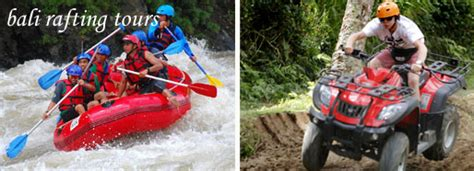 ayung rafting  atv ride packages bali double activities