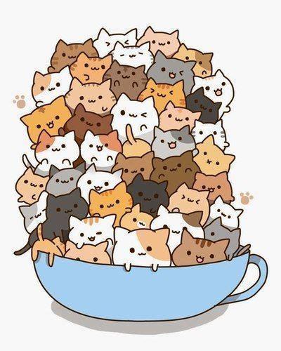 Imagenes Kawaii Gatos | las 25 mejores ideas sobre gatos kawaii en pinterest