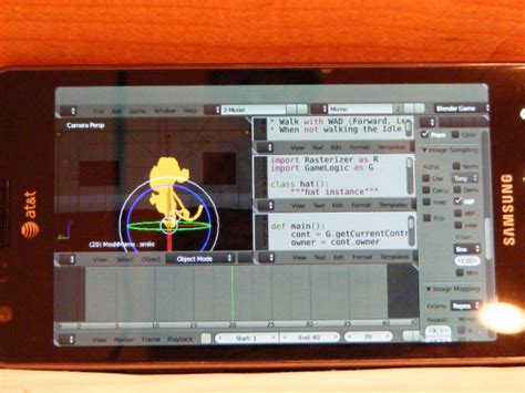 Blender Samsung blender on android with opengl es now works phoronix