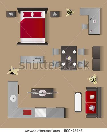 icon design interior modern apartment living room bedroom bathroom stock vector