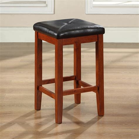 Bar Stools Square Seat by Upholstered Square Seat Bar Stool With 24 Inch Seat Height