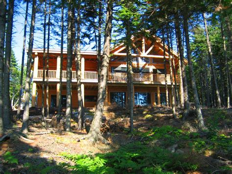 beautiful oceanfront log home  acadia vrbo