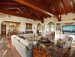 hacienda stil home pläne ranch style custom home family room