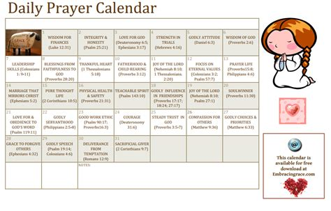 where can i buy prayer give the gift of prayer a free printable calendar for