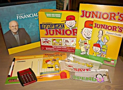 financial peace junior kit teaching how to win with money dave ramsey s financial peace a family investment