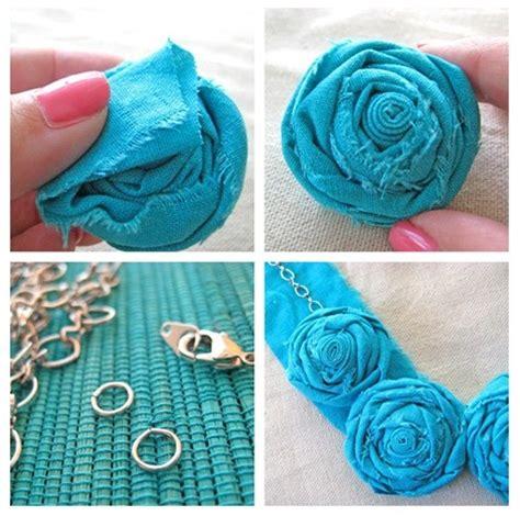 cara membuat kerajinan flanel cara membuat kalung dari kain flanel berbentuk rose