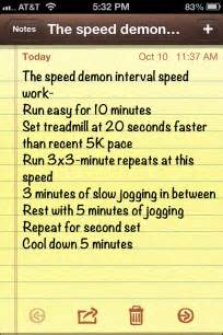testing out the speed demon interval run fit