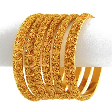 new gold on the design collection top 12 six yellow gold indian bangle set