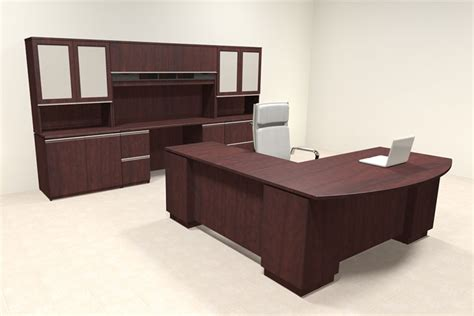 modern l shaped office desk 4pc modern contemporary l shaped executive office desk set bh mil l8 ebay