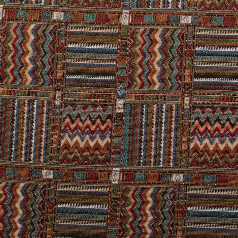 Patchwork Upholstery Fabric - aztec patchwork tapestry curtain upholstery fabric