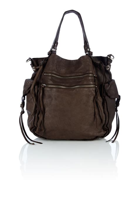 Day Bag by Bruno Ath 233 Washed Leather Day Bag In