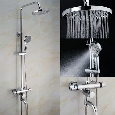 Bathroom Exposed Bath Tub Shower Thermostatic Valve Bathroom Shower Controls