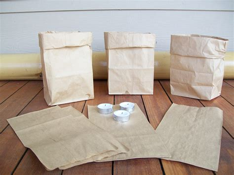 Paper Bag Folding - farolitos of earthstonestation