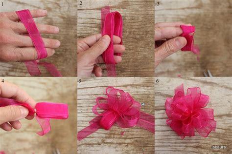 tutorial fiocco di organza come fare un fiocco pompon per decorare un pacco regalo