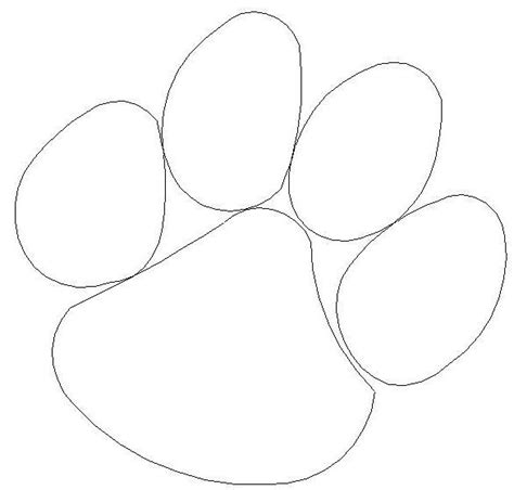 coloring page tiger paw 34 best clemson images on pinterest clemson tigers
