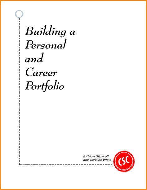 5 career portfolio cover page model resumed