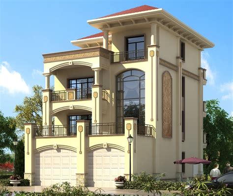 european style and style villa design drawings the