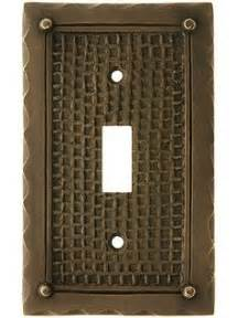 craftsman style light switches 6 3 4 inch solid brass craftsman style switch plate