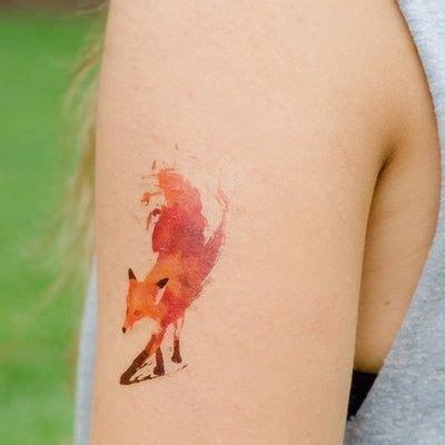 tattoo minimalist fox tatouage renard tattoo 35 inkage