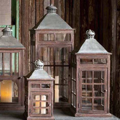 Park Hill Home Decor by Park Hill Collection Transom Window Lanterns Set 3 Yf0933