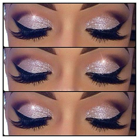 Eyeshadow Glitter white glitter eye shadow my style
