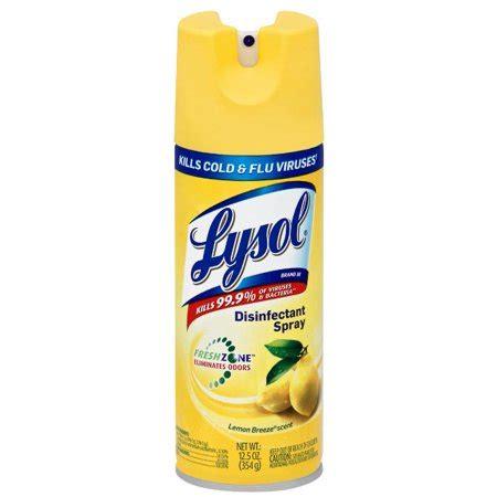 lysol lemon breeze scent disinfectant spray  oz aerosol  walmartcom