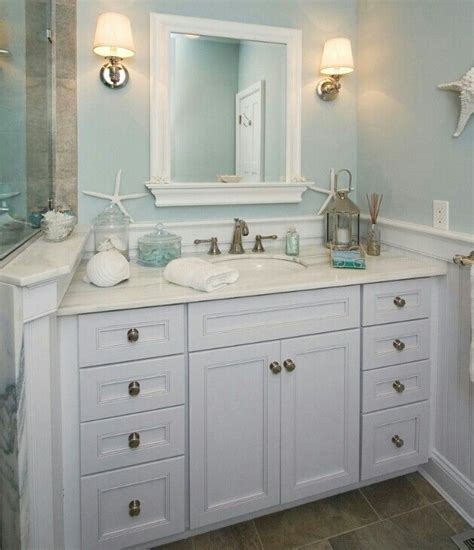 beach themed bathroom decorating ideas beach theme bathroom i like the mirror and wall color