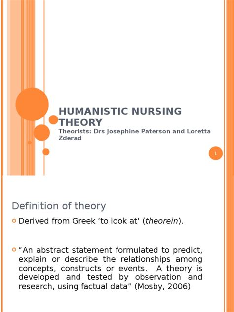 definition of comfort care humanistic nursing theory nursing