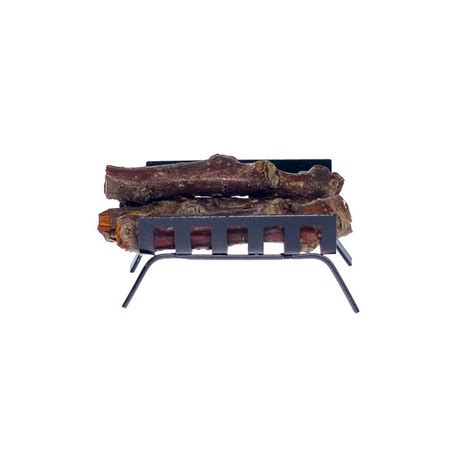 metal log holder black dollhouse miniature fireplace
