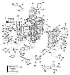 Johnson 2006 90 J90glsde Cylinder And Crankcase Parts