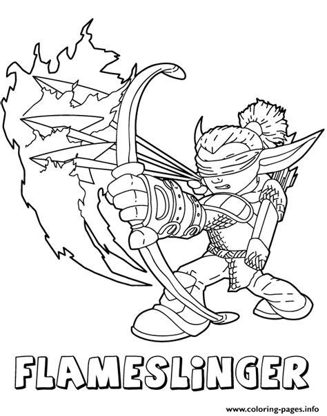 skylander dragon coloring page skylanders giants fire flameslinger series2 coloring pages