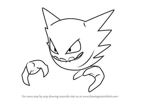 pokemon coloring pages haunter learn how to draw haunter from pokemon go pokemon go