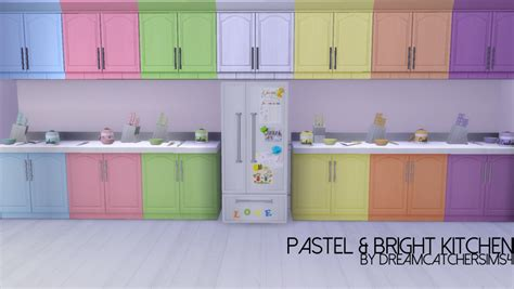 pastel kitchen my sims 4 blog pastel bright kitchen recolors by
