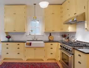 Yellow Painted Kitchen Cabinets Painted Kitchen Cabinets Kitchens Pinterest